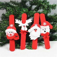 5 unids Palmaditas Círculo de Navidad Decoraciones de Navidad Niños Regalo de Navidad de Santa Claus Snowman Deer Fiesta de Año Nuevo Juguetes