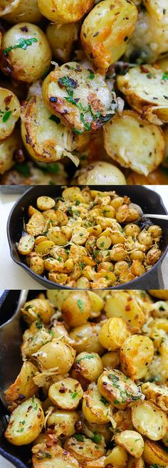 Roasted Potatoes - buttery, cheesy oven-roasted potatoes with Italian seasoning, g.Italian Roasted Potatoes - buttery, cheesy oven-roasted potatoes with Italian seasoning, g. Potato Recipes, Vegetable Recipes, Vegetarian Recipes, Cooking Recipes, Healthy Recipes, Veggie Food, Cooking Tips, Potato Dishes, Salad Recipes