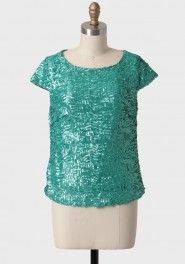 Mint Dazzle Sequined Top at Sequin Tank Tops, Sequin Top, Vintage Inspired Fashion, Outfit Combinations, Vintage Glamour, Fancy Pants, Beautiful Outfits, Beautiful Clothes, Vintage Tops