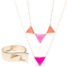 Trie & True > Two necklaces and one cuff $39.95 >> Good deal! Love the necklaces!