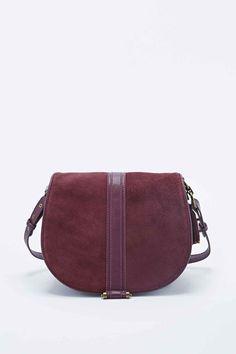 Deena Ozzy Suede Shoulder Bag In Burgundy 59