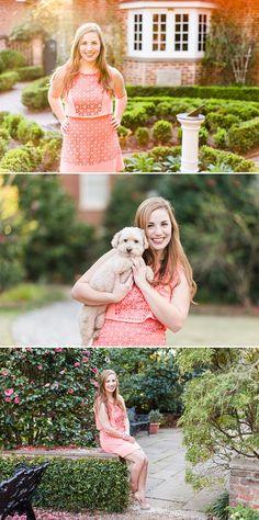 UGA Founders Garden senior photos | Athens Georgia