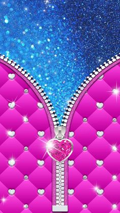 Glitter touch with pink diamond silver zipper. Hear diamond in hot pink color is a truly luxury item. Pink And Black Wallpaper, Bling Wallpaper, Locked Wallpaper, Wallpaper Roll, Wallpaper Backgrounds, Iphone Wallpaper, Heart Wallpaper, Screen Wallpaper, Chevron Pattern Wallpaper