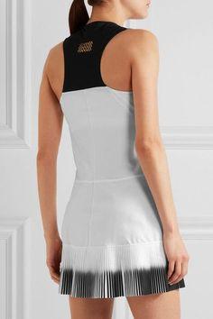 79f3207b91 Monreal London - Plissé-paneled stretch-jersey tennis dress