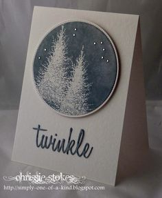 Simply One Of A Kind: Penny Black stamp clear embossed and inked with Weathered Wood distress ink! Sentiment by Sizzix .