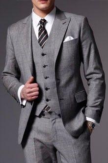 Grey Tweed Three Piece Suit - The Associate Tweed Three Piece Suit   Indochino