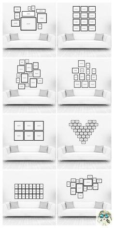 Você sabe como decorar com quadros da maneira certa??? Segue os exemplos de inspiração!!!