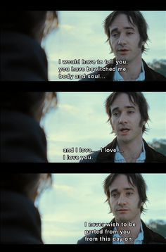 Matthew McFadyen was the perfect Darcy.... I'm not gonna let all you Colin Firth/Darcy lovers hate on me :)