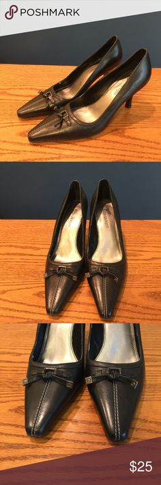 Etienne Aigner black heels Size 8 1/2. Excellent condition. Only worn once at an office, never worn outside. Still like new. They are leather and the style name is Paully. Etienne Aigner Shoes Heels