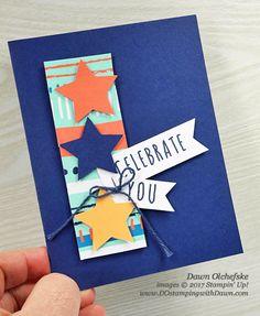 Stampin' Up! Paper Pumpkin Feb 2017 Kit Many Happy Birthdays alternate card idea by Dawn Olchefske #dostamping