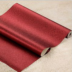 Modern And Simple Solid Color Red Wallpaper 3D Embossed PVC Waterproof Wallpaper Roll Living Room Bedroom Wallpaper For Walls