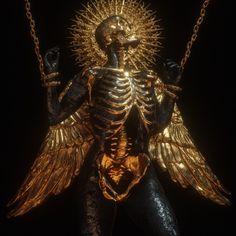 Memento Mori on Behance Arte Horror, Horror Art, Fantasy Kunst, Fantasy Art, Art Sculpture, Sculptures, Art Noir, Gold Aesthetic, Danse Macabre