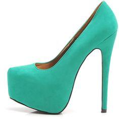 AX Paris Faux Suede Platform Shoe (325 VEF) ❤ liked on Polyvore featuring shoes, pumps, heels, zapatos, high heels, high heel pumps, faux suede shoes, high heel shoes, platform shoes and heels & pumps