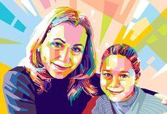 WPAP PORTRE: Canlı renkler, estetik detaylar, farklı bir portre çalışması arayanlar için.