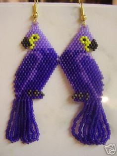 Delica Macaw Earrings