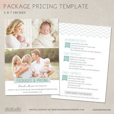 50% SALE Photography Pricing Guide Package List by OtoStudio