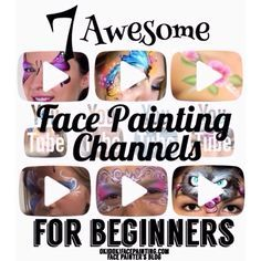 When you think about face painting designs, you probably think about simple kids face painting designs. Many people do not realize that face painting designs go Face Paint Set, Mime Face Paint, Face Painting Tips, Face Painting Tutorials, Face Painting Designs, Painting Patterns, Painting For Kids, Body Painting, Face Paintings