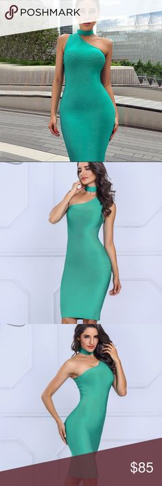 Green Envy Dubai Bandage Dress Body-contouring, curve-hugging dress. Strong, thick bands. High quality bandage dress. Very flattering fit for all body types. Great for any occasion. Dresses