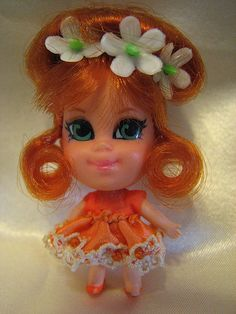 Liddle Kiddles: Orange Blossom Kologne Kiddle - 1969-1970 I had this one  they smelled pretty lol.