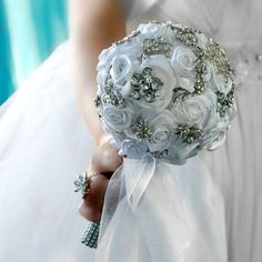 Brooche  wedding bouquet and boutonniere by wandadesign on Etsy, €125.00