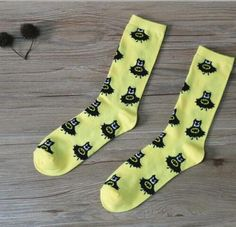 Hip Hop Cat Casual Socks Cotton Crew Socks Crazy Socks For Sports And Travels