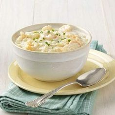 Chilled Corn and Shrimp Soup Recipe -Hot days call for cool foods, like this refreshing soup. Both filling and flavorful, it uses the best of summer's bounty. Seasonings can be adjusted to your tastes.—Mary Marlowe Leverette, Columbia, South Carolina