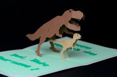 Dinosaur Pop Up Card Tutorial   Creative Pop Up Cards