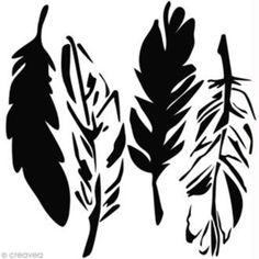 Fichier silhouette sst gratuit plumes