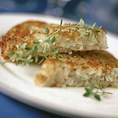 Heart-Healthy Recipes for 2013—Parmesan Potato Pancakes. Olive oil is rich in monounsaturated fat, making it a healthier choice for frying or sauteing foods.
