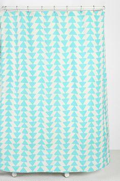 Triangle-Chain Shower Curtain