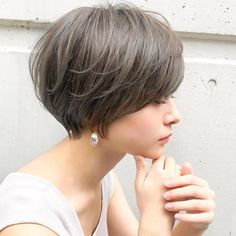 The Most Beautiful Wedding Hairstyles Short Choppy Hair, Asian Short Hair, Short Grey Hair, Short Hair Cuts, Stacked Bob Hairstyles, Short Hairstyles For Women, Cool Hairstyles, Wedding Hairstyles, Shot Hair Styles