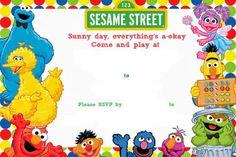 Free sesame street invitation template maddies first bday free printable sesame street birthday invitation filmwisefo Gallery