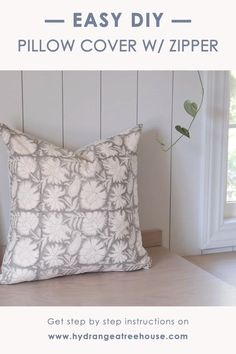 DIY Throw Pillow Covers with Zipper | Serena and Lily Inspired
