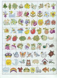small cross stich charts #cross-stitch