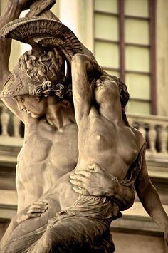 Achilles and Polyxena, sculpture by Pio Fedi - statues of Florence Michelangelo, Renaissance, Statue Ange, Art Sculpture, Roman Sculpture, Classical Art, Rodin, Achilles, Art History