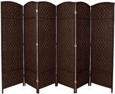 Oriental Furniture Wider Larger Bigger Low Price Room Divider, 6-Feet Diamond Weave Natural Fiber Folding Screen, Dark Mocha, 6 Panel ORIENTAL FURNITURE,http://www.amazon.com/dp/B003ESE47K/ref=cm_sw_r_pi_dp_ar2Tsb02KVYNRFD2