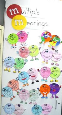 M&M Multiple Meaning Words Craftivity - FREE printable