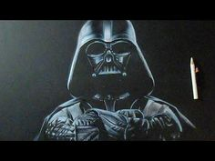 How to Draw Darth vader (STAR WARS) [TUTORIAL] - YouTube