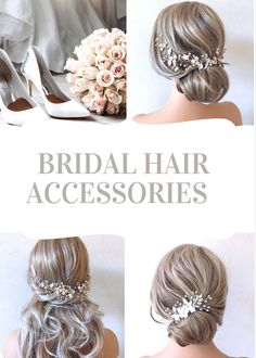 Add the perfect finishing touch to your wedding hairstyle with this crystal and pearl bridal hair piece. As the bridal headpiece is flexible it can be shaped to suit any hairstyle. Available in silver or gold this hair vine is the perfect bridal hair accessory. Please visit our website for more stunning wedding hair accessories. Bridal hair comes work with most hairstyles unlike tiaras which only work on top of your hair. Using hair spray helps the wedding hair comb to stay in place securely. Bridal Hair Down, Bridal Hair Half Up, Bridal Hair Updo, Boho Wedding Hair, Wedding Hair Down, Bridal Hair Vine, Hair Comb Wedding, Bridal Veils, Bridal Makeup