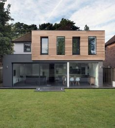 Modern extension with Western Red cedar cladding Extension Designs, Roof Extension, Extension Ideas, Extension Google, Bungalow Extensions, House Extensions, Cladding Design, Cladding Ideas, Dormer Bungalow