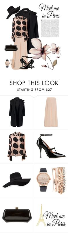"""""""Untitled #219"""" by riuk ❤ liked on Polyvore featuring Jil Sander, TIBI, STELLA McCARTNEY, RED Valentino, San Diego Hat Co., Jessica Carlyle, Rebecca Minkoff and Wall Pops!"""
