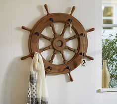 Ship Wheel Hooks #potterybarn