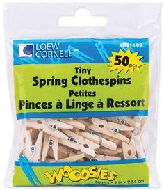 """Tiny Spring Clothespins 1""""""""-50/Pkg"""