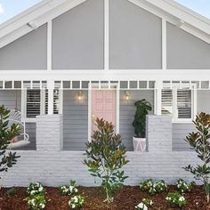 A boutique renovation company created by three best friends and busy mums. We swapped the boardroom for a building site to pursue a passion for RENOVATING. Learn how to renovate just like we do with THE RENO SCHOOL! White Exterior Houses, Grey Exterior, Grey Houses, House Paint Exterior, Pink Houses, Exterior House Colors, Exterior Design, Grey House White Trim, Weatherboard Exterior