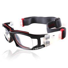 New Hot Basketball Protective Goggles PC Lens Outdoor Sports Football Ski  Glasses Myopia Prescription lenses Male Men 5 Colors 661a73bda9