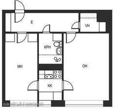 42m² Untuvaisentie 4 A, 00820 Helsinki {i18n:constant/building_override_building_type/1} kaksio vuokrattavana | Oikotie 9355701