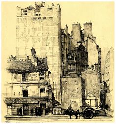 Samuel V. Chamberlain (American, 1875-1975) - Passy - Ancien et Nouveau Paris - 1924