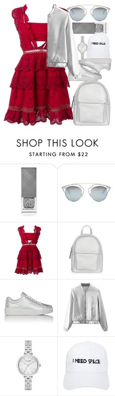 """""""Coolio"""" by egordon2 ❤ liked on Polyvore featuring Burberry, Christian Dior, self-portrait, New Look, Prada Sport, Kate Spade and Nasaseasons"""