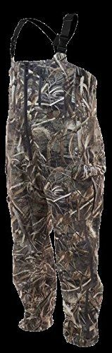 Frogg Toggs PF93160-562X Pilot Guide Bib, Realtree Max  https://fishingrodsreelsandgear.com/product/frogg-toggs-pf93160-562x-pilot-guide-bib-realtree-max/  Made from 3-layer submersible material 100% seam sealed and waterproof Full-zip front entry and thigh-length leg Zips