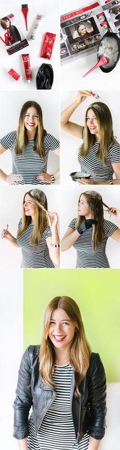 Hair DIY - Lighten blonde ombre hair with beauty blogger I Spy DIY.  Vidal Sassoon Salonist DIY hair color: 7/0 Dark Neutral Blonde.